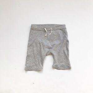 J.Crew baby gray long shorts  EUC 18-24 months